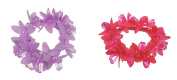 Girls Ladies Ballet Pair Flower Beaded School Party Princess Hair Scrunchies Fuchsia Lilac