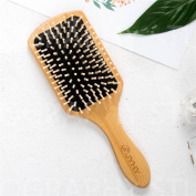 JYHYEU Keratin Oil Infused Natural Wooden Massage Hair paddle Brush, Beauty SPA Massager Massage Comb, Big Size Hair Detangler Brush ,Comb for All Hair Types Improve Hair Growth