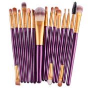 Cosmetic brush, Xinantime 15 pcs/Sets Eye Shadow Foundation Eyebrow Lip Brush Makeup Brushes Tool
