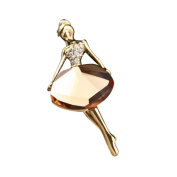 LUFA Women Girls Crystal Ballet Dance Girl Brooch Pin Accessories Brooches Gift