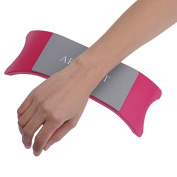 Plastic Holder and silicone Cushion Wrist Pad Hand Rest Pillow for Salon Nail Art Manicure Accessories Hot Pink