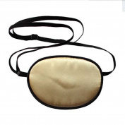 TININNA Pirate Eye Patch,No Leakage Smooth Soft and Comfortable Elastic Silk Eye Patch for Adults Lazy Eye Amblyopia Strabismus,Gold