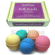 Suezbana Bath Bombs Series One - Handmade in UK with a Blend of Epsom Salt & Organic Butters.