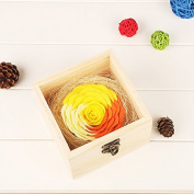 Artificial Flower Health Care Tool for Wedding Decoration,Home Decor,Mother's Day Gift,Father's Day Wooden box soap flower gift box soap flower gift ideas home supplies birthday gifts,Square box Gold zone