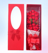 Artificial Flower Health Care Tool for Wedding Decoration,Home Decor,Mother's Day Gift,Father's Day 33 Roses Bouquet soap creative birthday, Valentine hand soap flowers,33 big flower head red