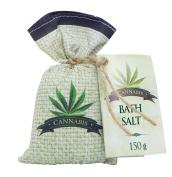 Cannabis Bath Salt 150 g with hemp seed oil - Original Pure Natural Cosmetics.