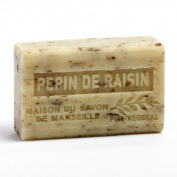 French Soap, Traditional Savon de Marseille - Grape Seeds (Pepin de Raisin) 125g
