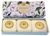 Gift Boxed Hand Soaps 3 x 100g White Jasmine & Sandalwood