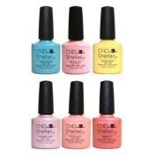 CND Shellac Kit, Flirtation Collection, 7.3 ml, Pack of 6