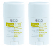 Eco Cosmetics Deodorant Stick Fresh Olive and Mauve Twin Pack (2x 50 ml (Organic, Vegan Natural Cosmetic - Deodorant x2
