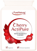 180 Cherry Actipure 100% Pure Montmorency Cherry 50% Higher Strength Than Most Brands For Best Results |100% Quality Assured . Free UK Delivery