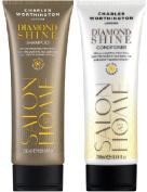 (2 PACK) Charles Worthington Diamond Shine Shampoo x 250ml & Charles Worthington Diamond Shine Conditioner x 250ml