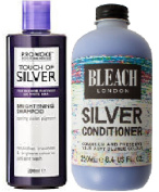 (2 PACK) Provoke Touch of Silver Brightening Shampoo x 200ml & Bleach London Silver Conditioner x 250ml