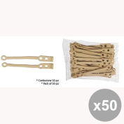 Set of 50 MUSTER & DIKSON Aesthetics Elastic Replacement Plates 18803 Long Hair Products