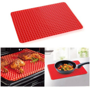 Baking Mats, XXYsm Pyramid Pan Non Stick Fat Reducing Silicone Cooking Mat Oven Baking Tray Sheets