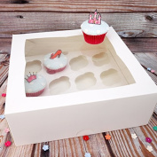 Deep Cupcake Box With Insert To Hold 12 Cupcakes