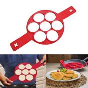 Silicone Pancake Mould , Non Stick Cake Maker Egg Ring Genuine Product Lanbao