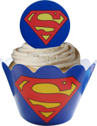 Superman Avengers Cupcake Wraps and Toppers
