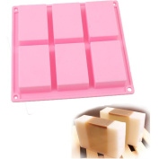 ODN Pink Silicone Mould Ice Cube Chocolate Cake Cupcake Soap Moulds DIY