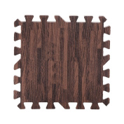 9Pcs 30x30cm Printed Wood Grain Interlocking Soft EVA Foam Floor Puzzle Mats For Gym Equipment Kids Play Three Colour