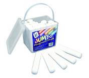 Jumbo Chalk Bucket - 20 Sticks of White Chalk