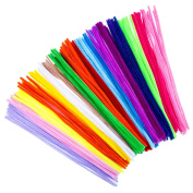 Bememo 200 Pieces 6 mm Chenille Stems Pipe Cleaners 12 Inch for DIY Art Craft, Assorted Colours