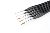 5 Pcs Best Professional Siberian Kolinsky Sable Detail Paint Brush,High Quality Miniature Brushes Will Keep a Fine Point and Spring, For Watercolour, Oil, Acrylic, Nail Art & Models