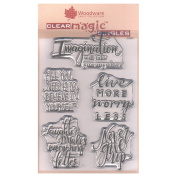 Woodware A6 Clear Cling Stamps - JGS521 Imagine Verse