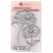 Woodware A6 Clear Cling Stamps - JGS512 Bold Blooms - Erica