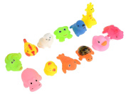 Imixlot 12Pcs Mixed Animals Colourful Soft Rubber Float Bathing Swimming Play Toy For Baby