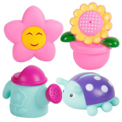 Bath Toys, Chickwin 4pcs Baby Colourful Bath Squirters Assorted Kids Bath Play Water Pool Tub Toy