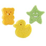 3Pcs Baby Bath Sponge Cute Cartoon Body Soft Scrubber Sponges