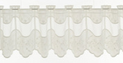 Window-curtain, half-curtain with floral embroidery nature 30 cm high | Width freely selectable in 155cm steps via amounts purchased.