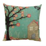 Hangood Cotton Linen Throw Pillow Case Cushion Covers Tree of Life 46cm x 46cm