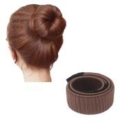 HENGSONG Fashion Ladies Hair Styling Tool Donut Hair Bun Styling Donut Foam Spiral Magic DIY Tool