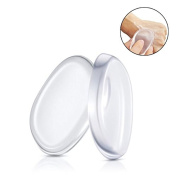 Boolavard® 2 Pack Silicone Makeup Sponge [Washable] Premium Quality - Gel Foundation Makeup and Puff BB - Best Silisponge Cosmetic Beauty Tools Blender [Clear]