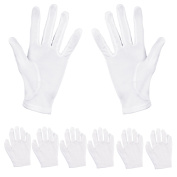 Aboat 6 Pairs Hand Moisturising Gloves,White Cotton Gloves for Moisturising