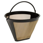 Limee #4 Washable & Reusable Cone Gold Tone Coffee Filter