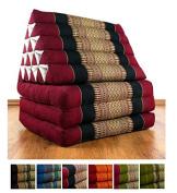 3 Fold with extra large Triangle Cushion with XXL Jumbo Asian Thailand Pillow / Headrest & 100% Kapok Filling