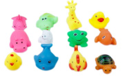 Dosige 12PCS Different Vinyl Animals Bath Toys Pool Toys for Baby Children Kids Bath Time