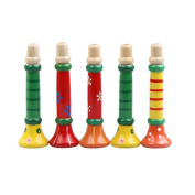 Baby Toy Longra® CUTE & LOVELY Colourful Wooden Trumpet Educational Toy ! ! (Hole Dia.