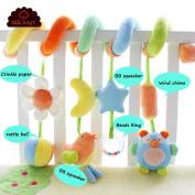 SKK Baby Pram Crib Spiral Activity Toy Green