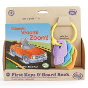 Green Toys KYBB-1234 First Keys and Sounds Board Book Suitable from Birth