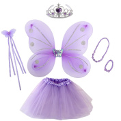 kilofly Princess Party Favour Jewellery Fairy Costume Dress Up Role Play Value Pack