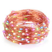 Kohree- String Lights LED USB Decorative Rope Lights, 10m Copper Wire 100 LEDs for Bedroom Patio Garden Party Wedding Commercial Lighting