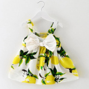 Girls Princess Dress, Transer® Baby Girl Clothes Newborn Lemon Printed Infant Outfit Sleeveless Princess Gallus Dress Toddlers Swing Dresses