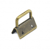 "50 Sets 25mm 1"" Key Fob Hardware Wristlet Set Wrist For wristlets with fabric ribbon webbing embossed Bronze"