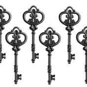 Aokbean Mixed Set of 20 Extra Large Antique Gunblack Finish Skeleton Keys in Antique Style - Set of 20 Keys