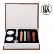 Stamp Seal Sealing Wax Classic Wooden Letter F Alphabet Initial Set Brass Colour Creative Romantic Stamp Maker