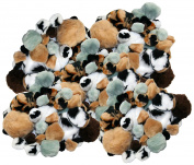 Set of 270 Soft Furry Pom Poms! 6 Assorted Animal Colours - 4 Assorted Sizes - Zebra Stripe, Tiger Stripe - Extra Soft - Perfect for Arts and Crafts, Scrapbooking and More!